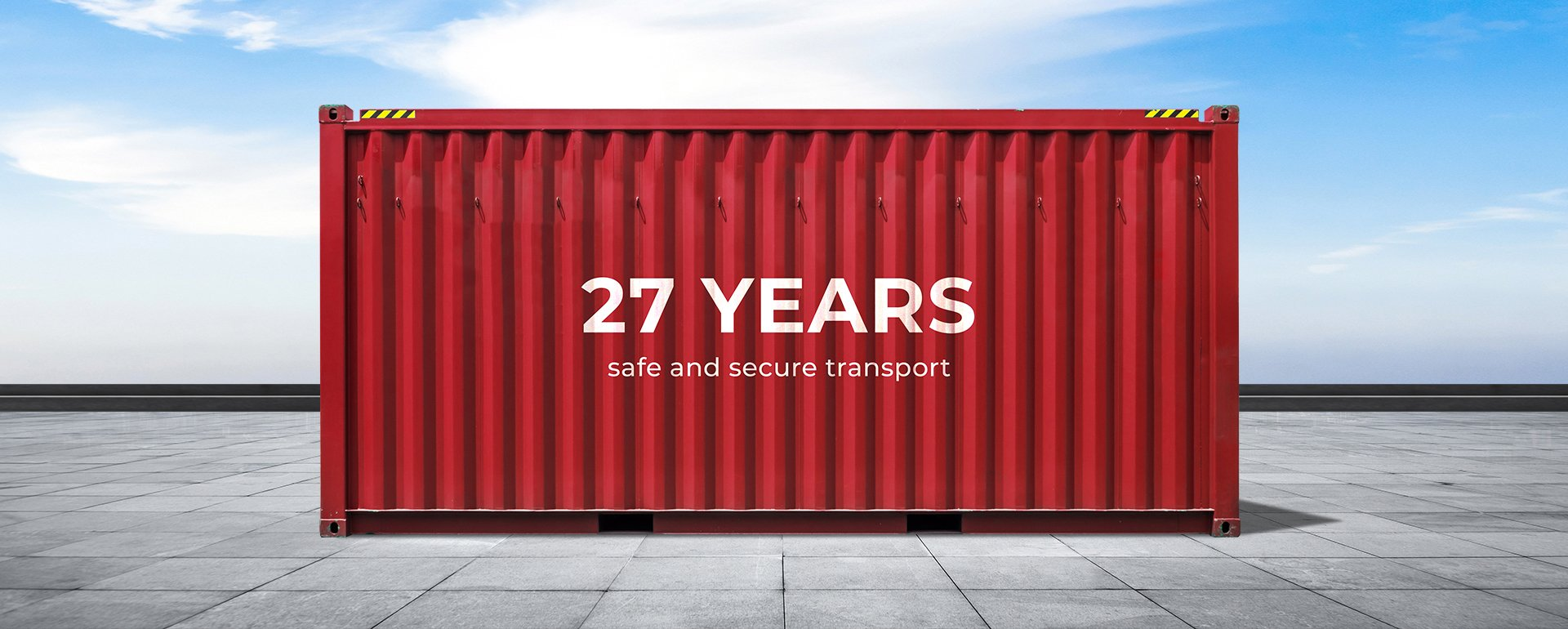 27 years of secure and guarantee transport